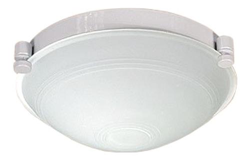 plafón en acero blanco y difusor de vidrio satinado - dx3130