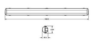 plafon estanco 1 x 18w 1,20 mts ip65 + tubo led 18w candil