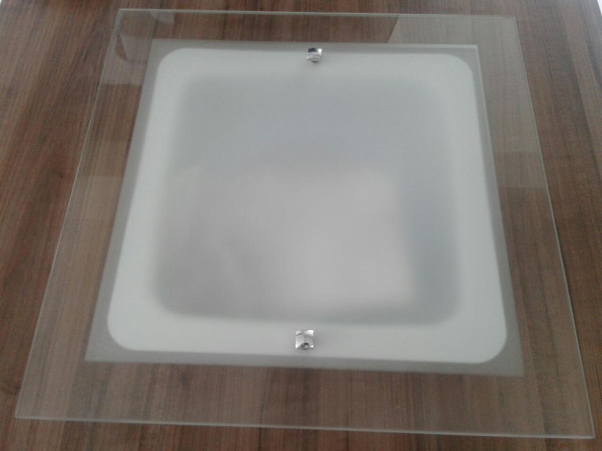 Plafon Led 20w Vidro Temperado Embutir Ou Sobrepor 30x30cm R 99