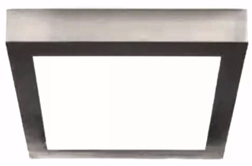 plafon led aplicar acero 12 w cuadrado listo para instalar