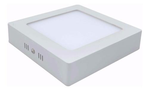 plafon led cuadrado 24w 30cm luz calida / fria