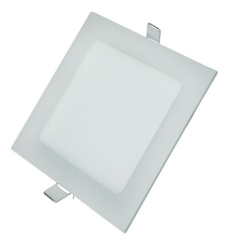 plafon led quadrado embutir 12x12 6w classe aaa super slim