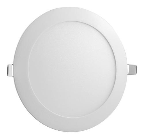 plafon led redondo de embutir luz blanca 15w