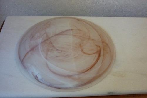 plafon luminária c3 mesclada marrom vidro tipo murano itália