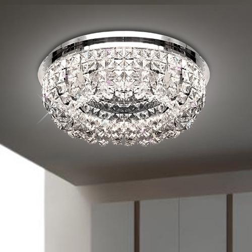 plafon lustre cristal asfour egipcio ø45 aço inox t945 gda