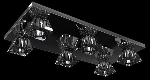 plafon lustre cristal inox piramide 60x30x11cm pf821/6 new