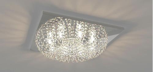 plafon lustre de cristal 50cm sala hall quarto corredor 960