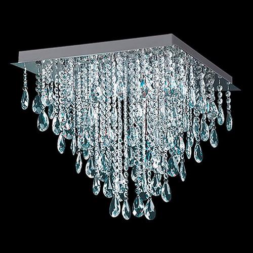 plafon    moderno con caireles de cristal 4 luces