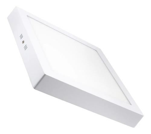 plafon panel led 12w blanco frio calido aplique externo
