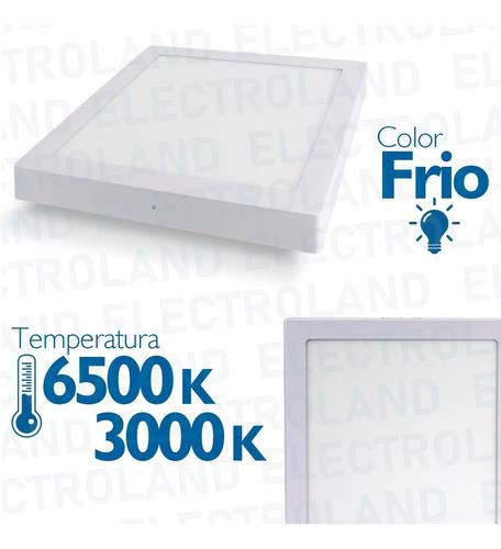 plafon panel led 24w cuadrado exterior spot blanco techo