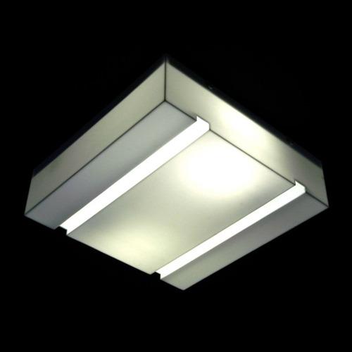 plafon quadrado acrilico leitoso 20x20x09cm - 501