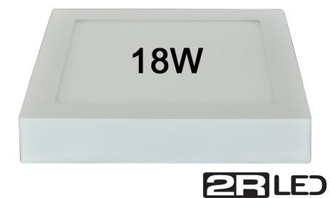 plafon quadrado led sobrepor 18w panel led 22,5cmx22,5cm