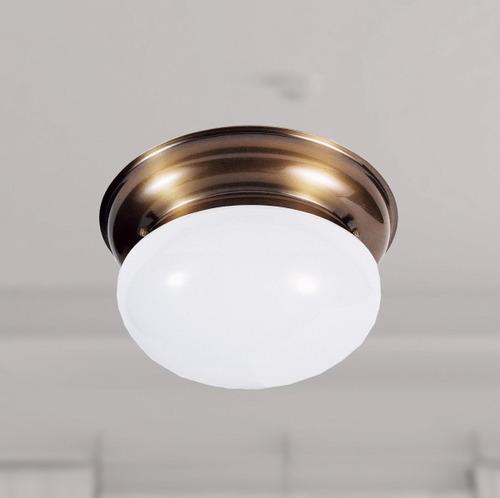 plafon redondo ø23 colonial bronze luminária t152 gda