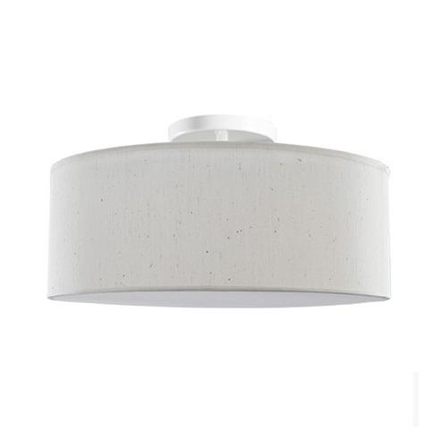 plafon redondo tecido cru ø50 luminária sala quarto - caisma