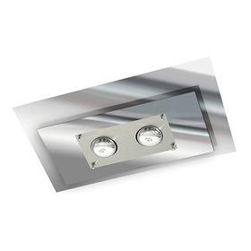 Plafon Retangular Espelhado Sala Quarto Banheiro 40x25