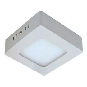 Plafon Sobrepor 6w Mini Luminaria Led Quadrada 8,5cm Teto