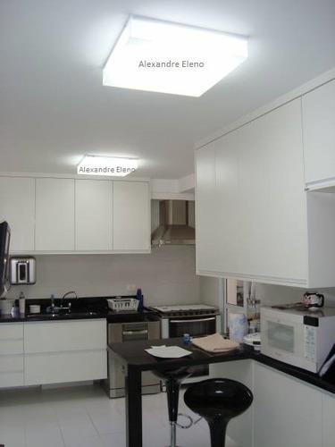 plafon sobrepor acrílico 30x30 leitoso 3 lâmpadas