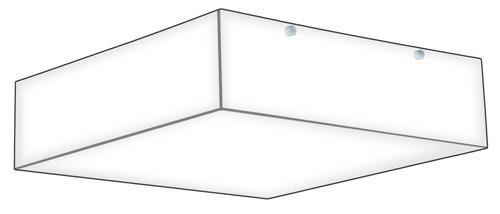 plafon sobrepor acrilico p/ 1 lâmpada 20x20cm -