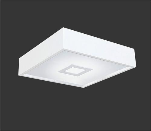 plafon sobrepor com moldura p/ 4 lâmpadas 38x38cm