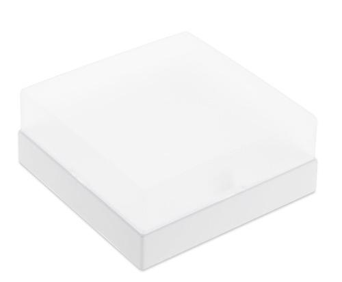 plafon sobrepor quadrado 30 cm acrilico leitoso