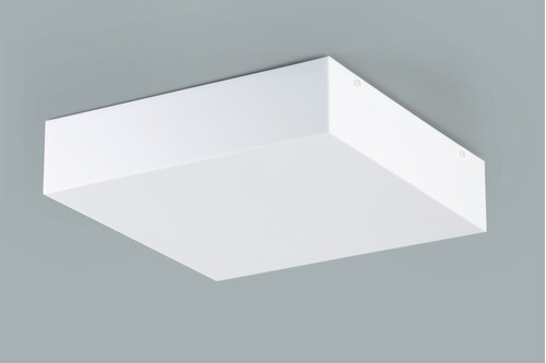 plafon sobrepor quadrado 35x35cm - acrílico branco