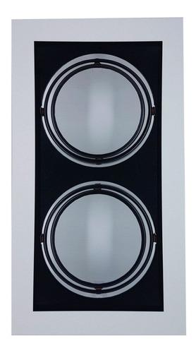 plafon spot embutir p/2 lâmpadas ar111 br/pt - vr  4403/2