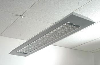 plafon suspendido 2x36w con louver doble parabolico*tubos*