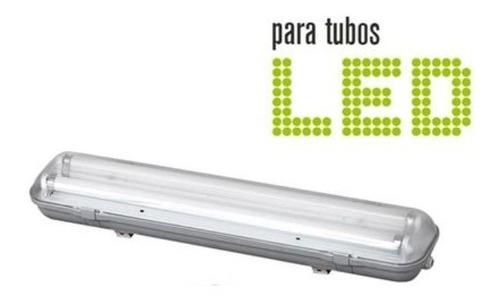 plafon techo fluorescente estanco 1x9w 0,60mts ip65 con tubo led 9w marca: candil luz neutra/fria iluminacion exterior