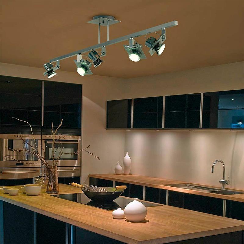 Encantador Luz De Techo De La Cocina Ideas Ornamento Elaboracion - Luces-cocina