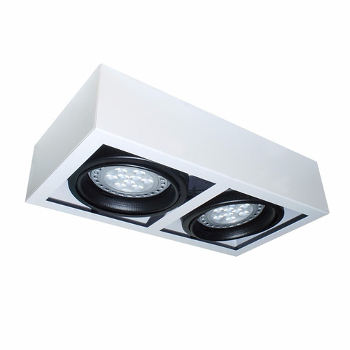 plafon techo moderno 2 luces ar111 led aplique iluminacion