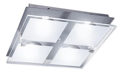 plafon yola 4 lamparas led ideal cocinas living buena luz