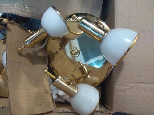 plafones ronda baño dorado