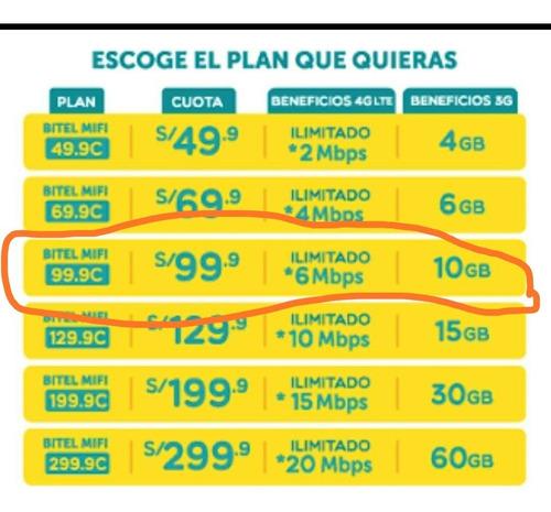 plam mifi bitel antiguo internet ilimitado 4g alquiler