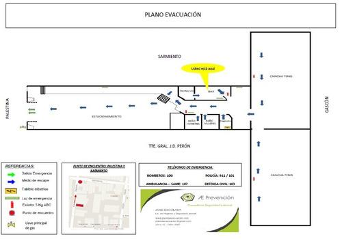 plan de evacuacion ley 5920 caba planos seguridad e higiene
