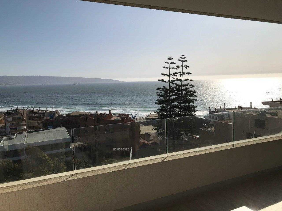 plan de reñaca, depto nuevo con espectacular vista al mar. 2 estacionamientos.