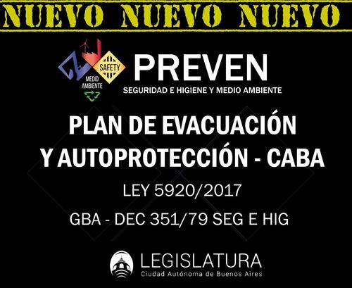 plan evacuación - ley 5920 - sistema de autoprotección  caba