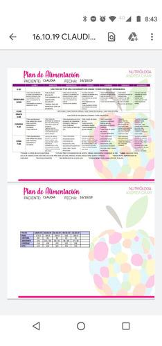 plan nutricional por la nutrióloga andrea c.p. 10886589