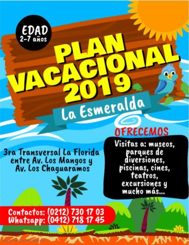 plan vacacional 2019 - la esmeralda