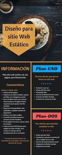 plan web estático - para restaurante  pwe1p-0001