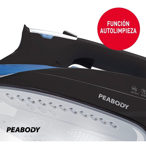 plancha a vapor digital suela cerámica peabody pe-pvd35