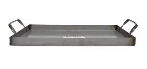 plancha bifera chapa de hierro 25 x 50 cm  para 2 hornallas