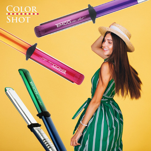 plancha cabello curveada titanium color shot timco fbt-2015