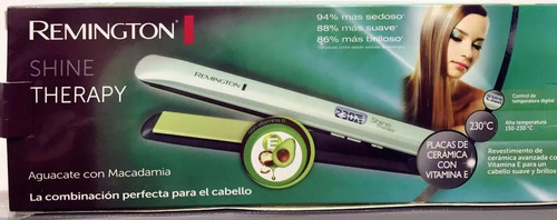 plancha cabello remington s9960 shine aguacate macadamia