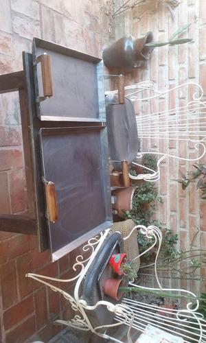 plancha churrasquera de hierro para cocina o asador