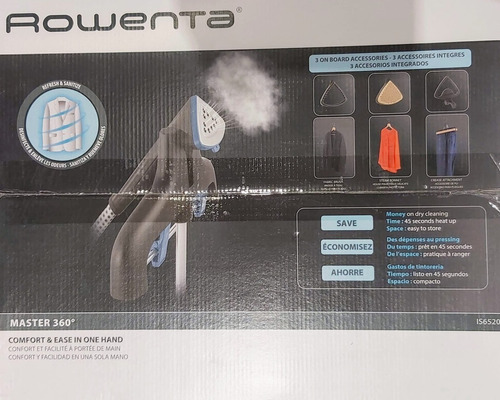 plancha con central de vapor vertical master 360 rowenta