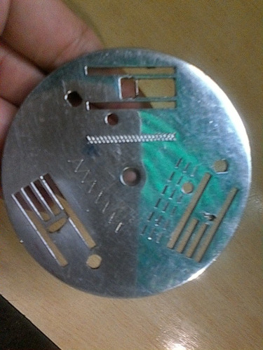 plancha de aguja de maquina de coser necchi italiana
