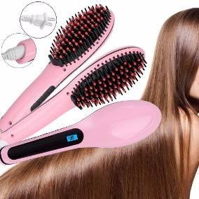 plancha de cabello cepillo alizador electrico pantalla lcd