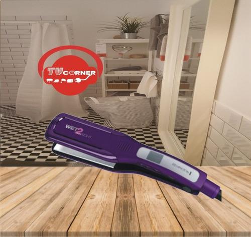 plancha de cabello remington alisadora en humedo y seco