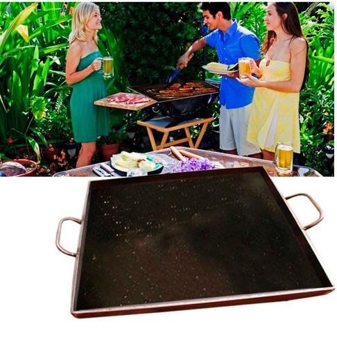 plancha de fierro churrasquera  40 x 40 x 4 mm/ envio gratis