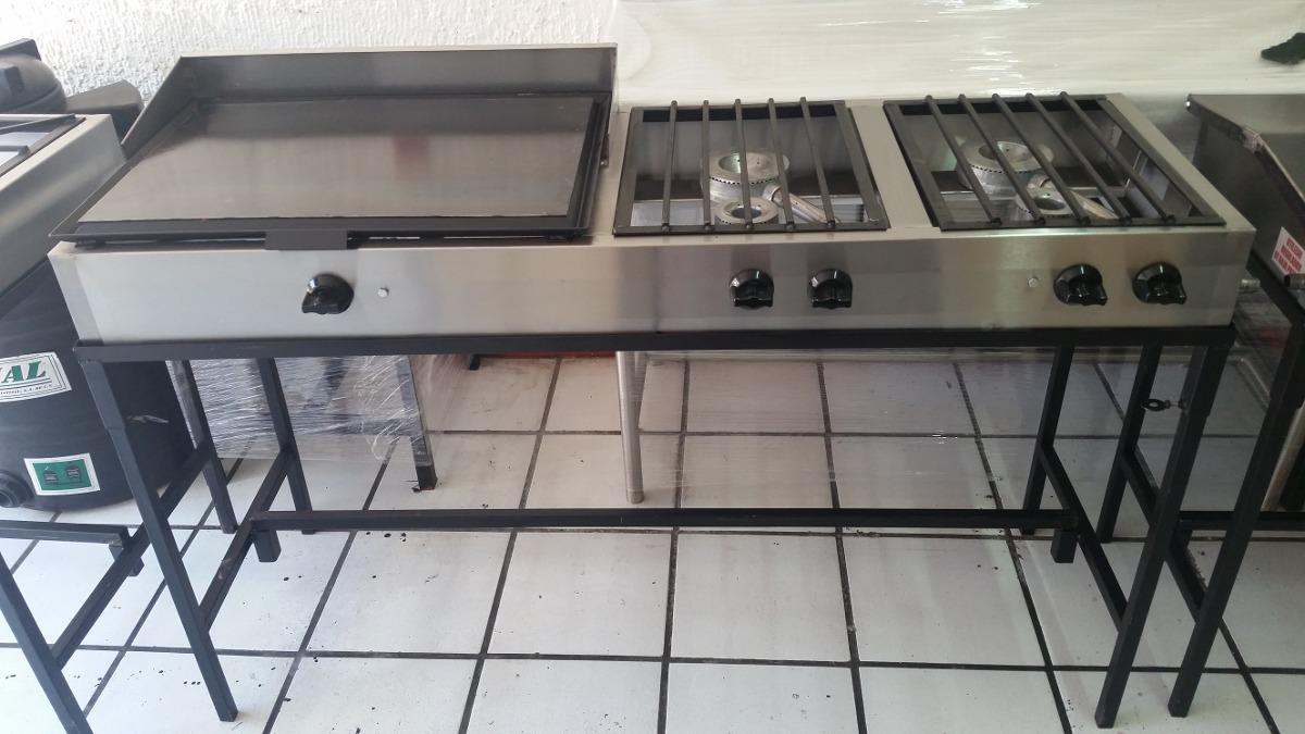 Plancha de gas con 4 hornillas quemadores cocina - Plancha para cocina de gas ...